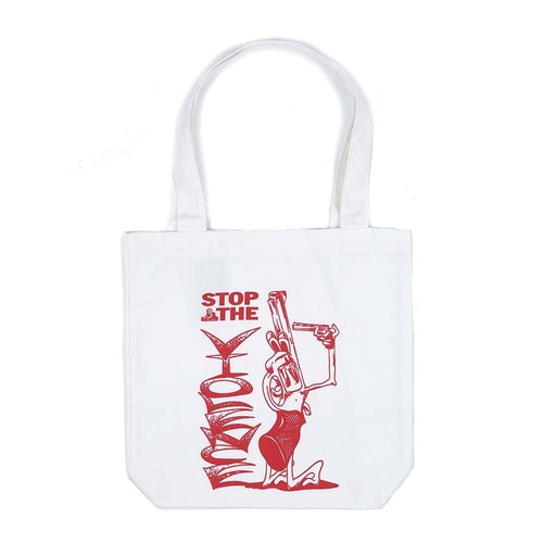 [Jungles] STOP THE VIOLENCE TOTE BAG - WHITE