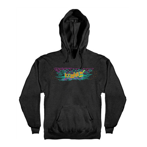 [Krooked] OFF THE GRID PULLOVER HOODED SWEATSHIRT - CHARCOAL HEATHER