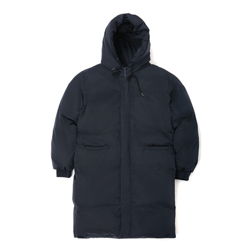 [VIBRATE]- BASIC LOGO DUCK DOWN LONG JUMPER (NAVY)