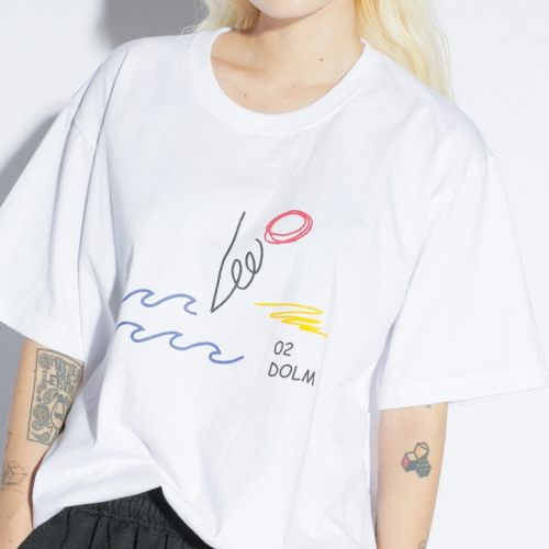 02 x dolm Croquis T-shirts White
