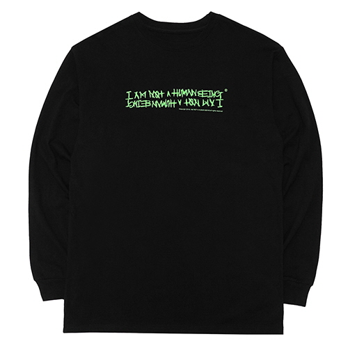 [18FW] AUTOGRAPH LOGO LONG SLEEVE T SHIRTS - BLACK/GREEN