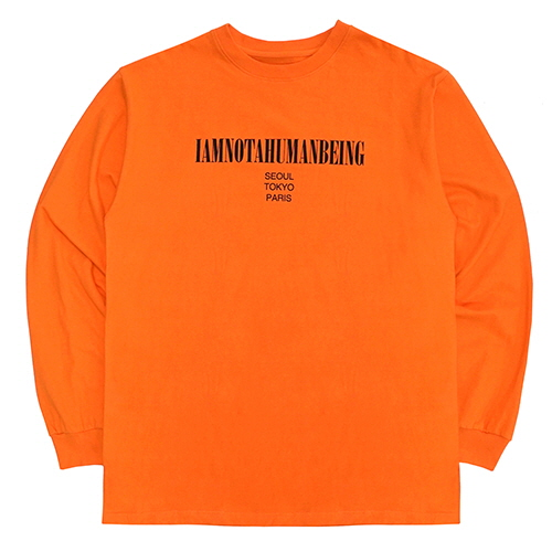 [18FW] INTERNATIONAL LONG SLEEVE T SHIRTS - ORANGE