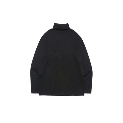 [LAFUDGESTORE] Merino Wool Polo Knit_Black