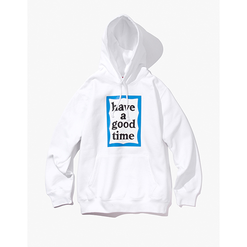 [Have a good time] BLUE FRAME PULLOVER HOODIE - WHITE