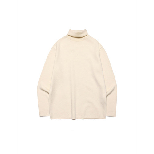 [LAFUDGESTORE] Merino Wool Polo Knit_Cloud Cream