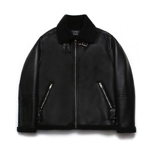 [LAFUDGESTORE] B3 Mouton Jacket_Rank Black