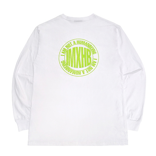 [18FW] IMXHB CIRCLE LOGO LONG SLEEVE T SHIRTS - WHITE/GREEN