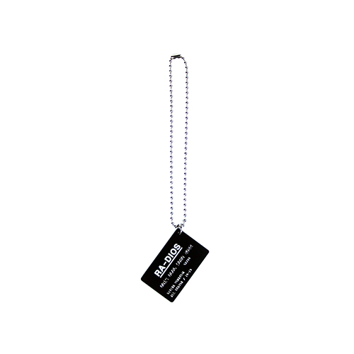 [RADIOS] Card Necklace Track.1 - Black