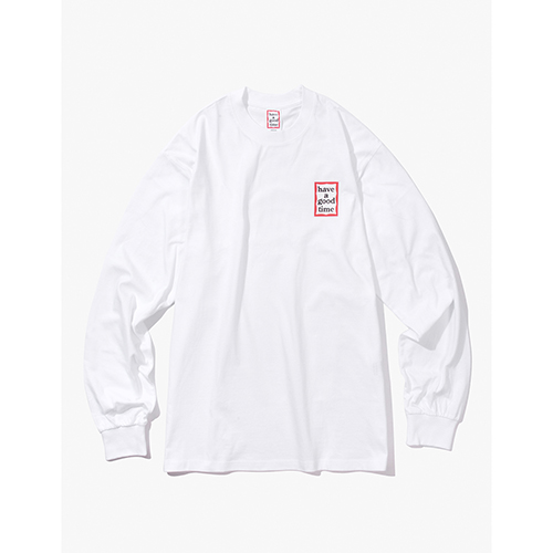 [Have a good time] MINI FRAME L/S TEE - WHITE