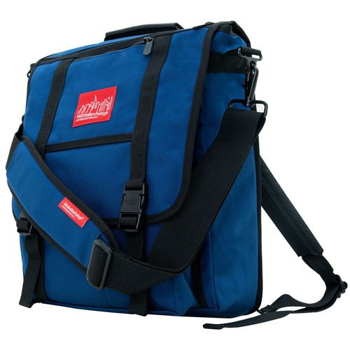 [Manhattan Portage] COMMUTER LAPTOP BAG (17 IN.) WITH BACK ZIPPER - NAVY