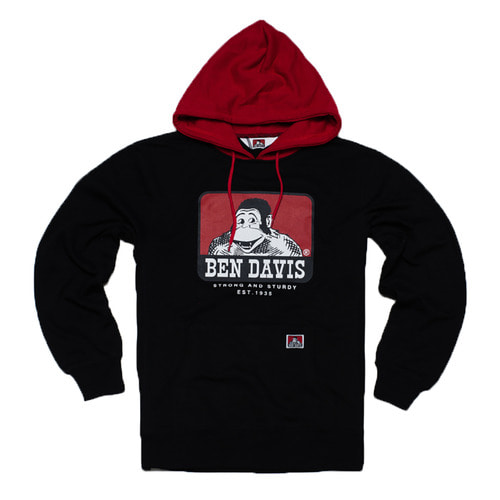 [Ben Davis] ICON HOODIE - BLACK/RED