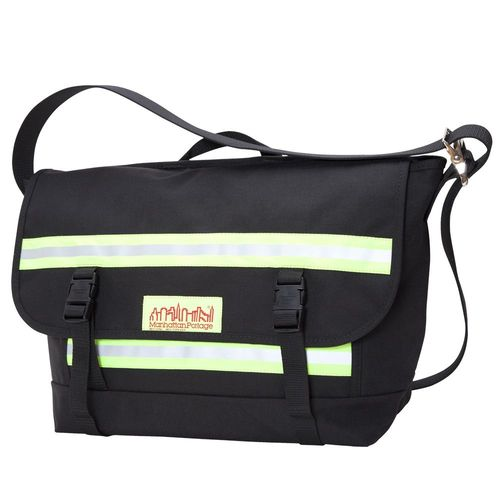 [Manhattan Portage] PRO BIKE MESSENGER BAG WITH STRIPES (MD) - BLACK
