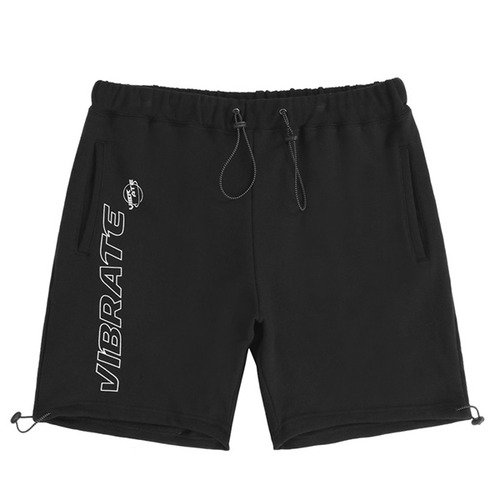 VIBRATE - TRIPPER OUTLINE LOGO SHORT PANTS (BLACK)
