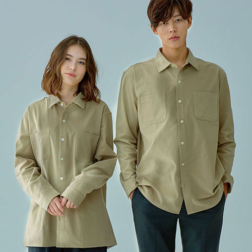 [OROR] R1-020 BASIC SHIRTS - BEIGE