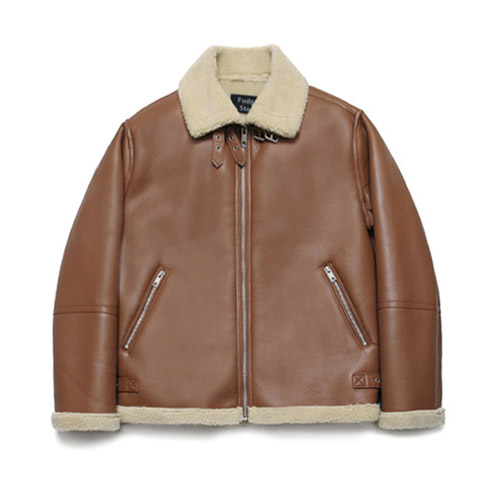 [LAFUDGESTORE] B3 Mouton Jacket_Rich Brown