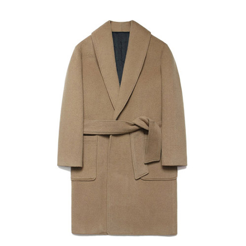 [LAFUDGESTORE] Wool robe Coat_Rich Beige