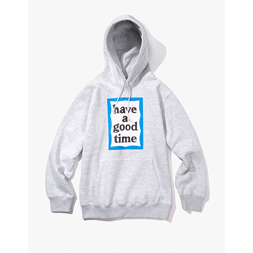 [해브어굿타임] BLUE FRAME PULLOVER HOODIE - HEATHER GREY