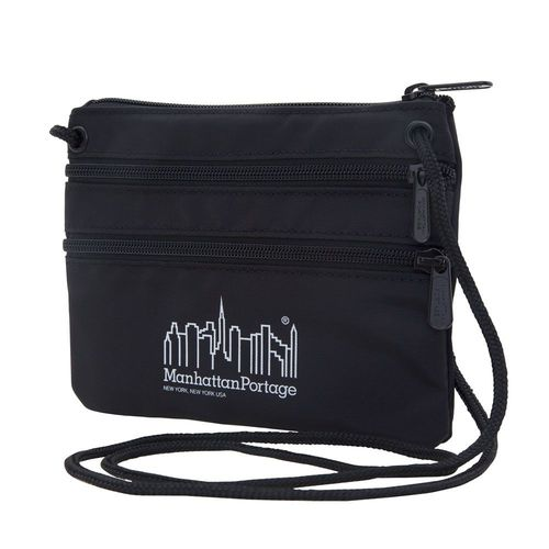 [Manhattan Portage] TRIPLE ZIPPER POUCH - BLACK