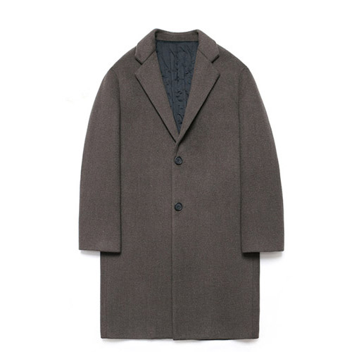 [LAFUDGESTORE] Wool Single Coat_Fig Bean