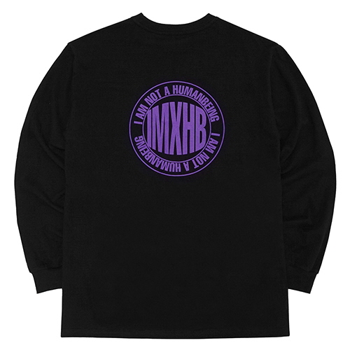 [18FW] IMXHB CIRCLE LOGO LONG SLEEVE T SHIRTS - BLACK/PURPLE