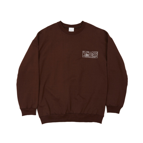 [yeseyesee] Y.E.S SWEATSHIRTS BROWN