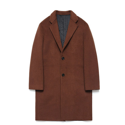 [LAFUDGESTORE] Wool Single Coat_Red Brick