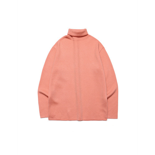 [LAFUDGESTORE] Merino Wool Polo Knit_Blooming Pink
