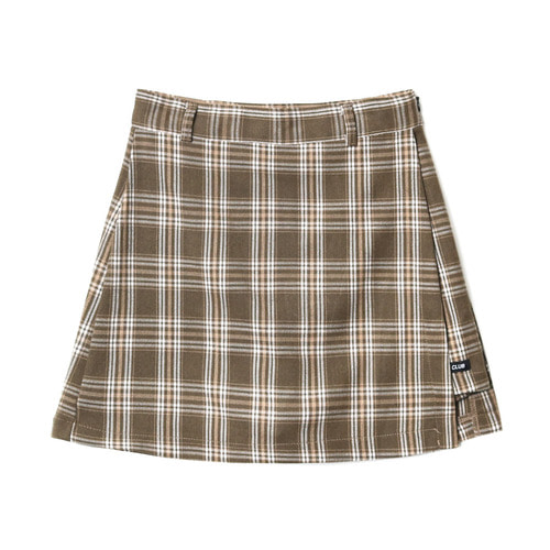 [NSTK] FANCY CHECK WRAP SKIRT BEIGE (NF18A080H)