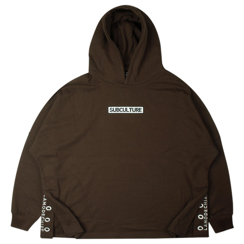 [LAMODECHIEF] LAMC SAID POINT OVER SIZE HOODY(BROWN)