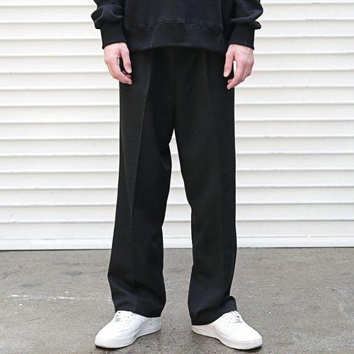 [MASSNOUN] ONE TUCK WIDE SLACKS MFETT001-BK