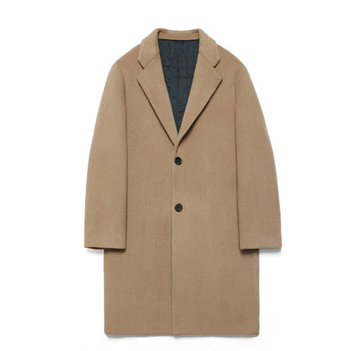 [LAFUDGESTORE] Wool Single Coat_Rich Beige