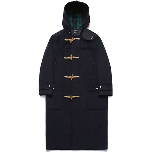 [LAFUDGESTORE] Wool Over Long Duffle Coat_Dusky Navy