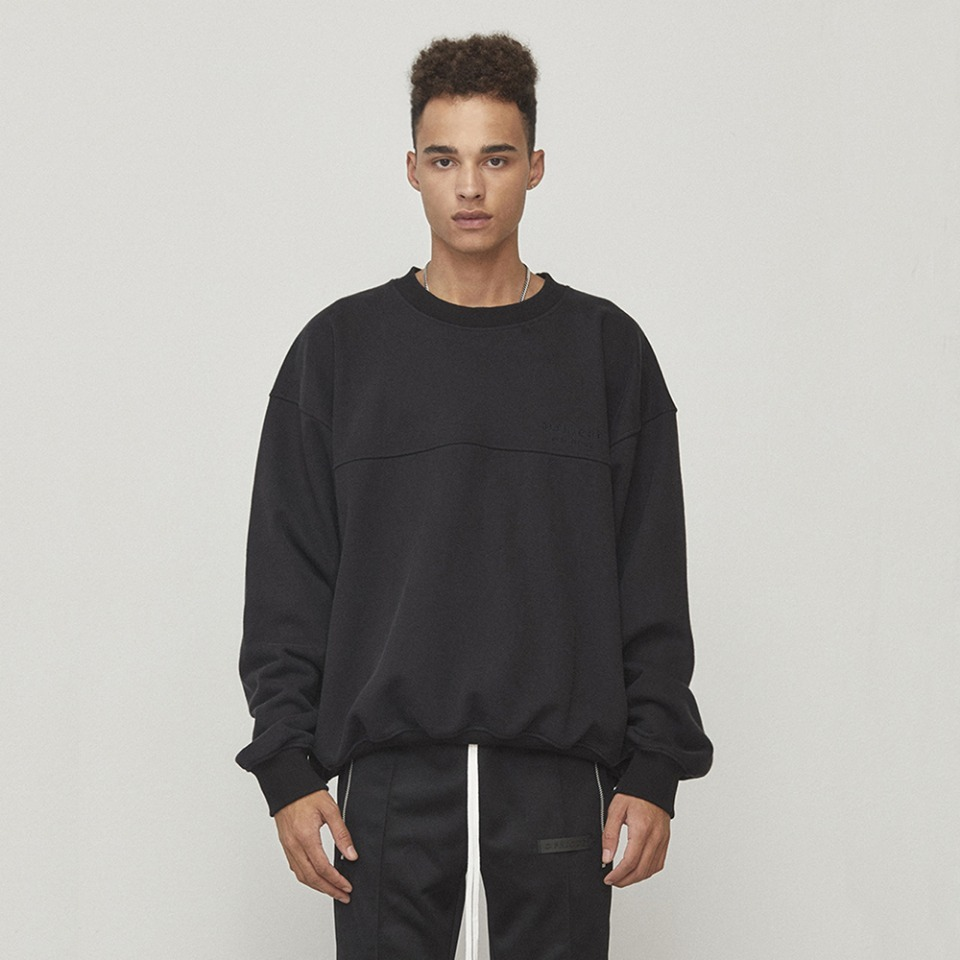 [D.PRIQUE] Oversized Sweatshirt Black (D18F111)