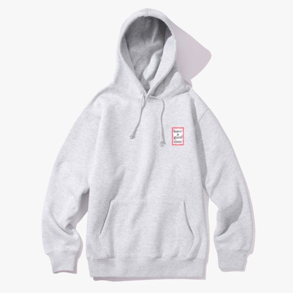 [Have a good time] MINI FRAME PULLOVER HOODIE - HEATHER GREY