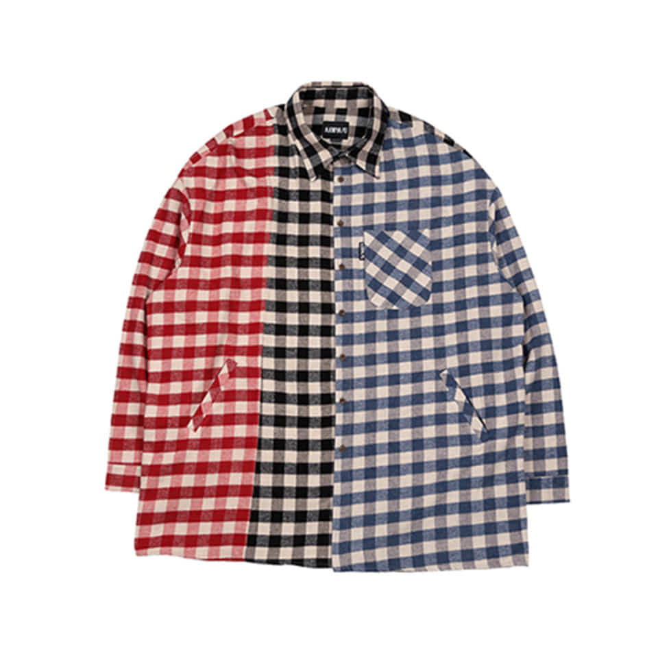 [AJOBYAJO] Tri Gingham Check Shirt [Red / Black /Blue]