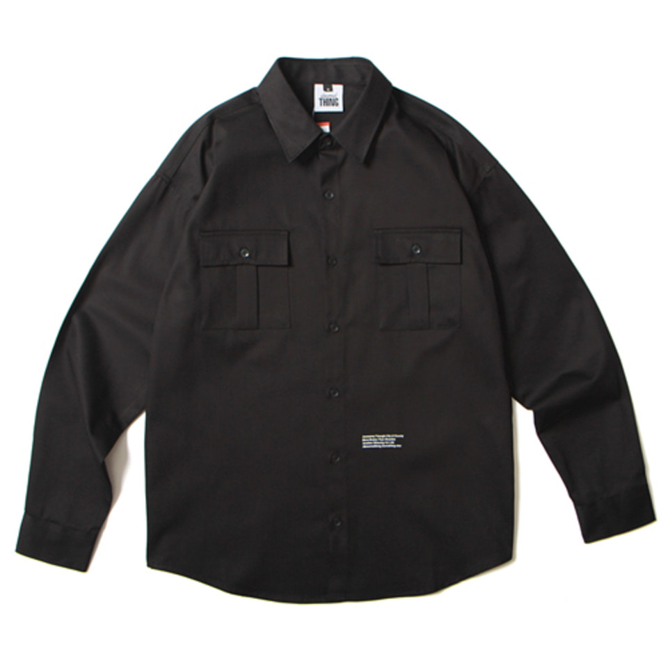 [앱놀머씽] 18 ATCNC Work Shirts (Black)