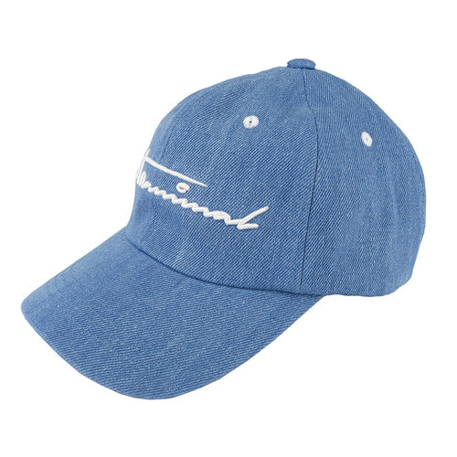 [zanimal] Denim Ballcap Light Indigo
