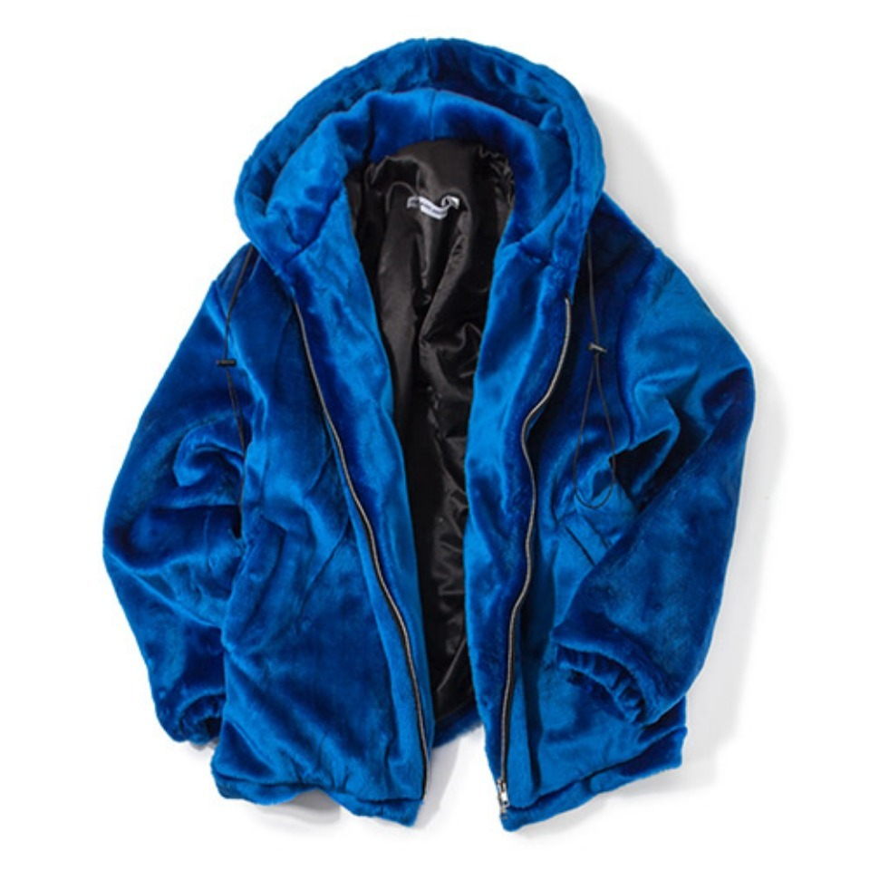 [KING] Heavy Fur Jacket - Blue