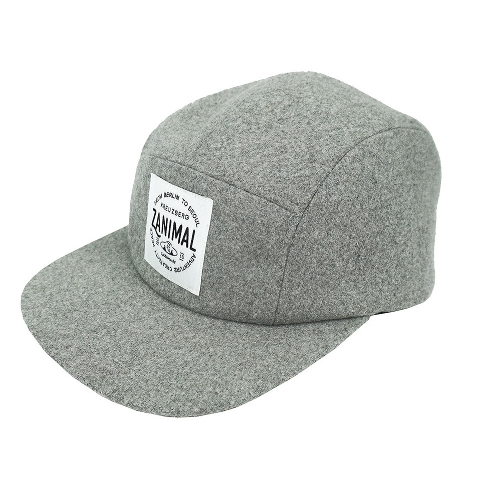 [zanimal]Zanimal Wool Campcap Light Grey