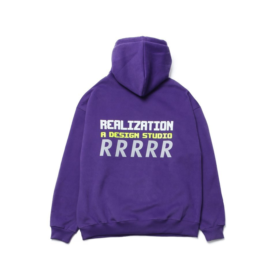 [Realization] RDS Reflective 'R' Logo Hoodie [VIOLET]