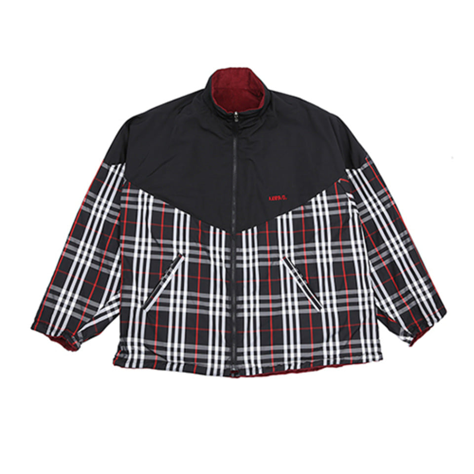 [AJOBYAJO] Reversible Check Jumper [Black]