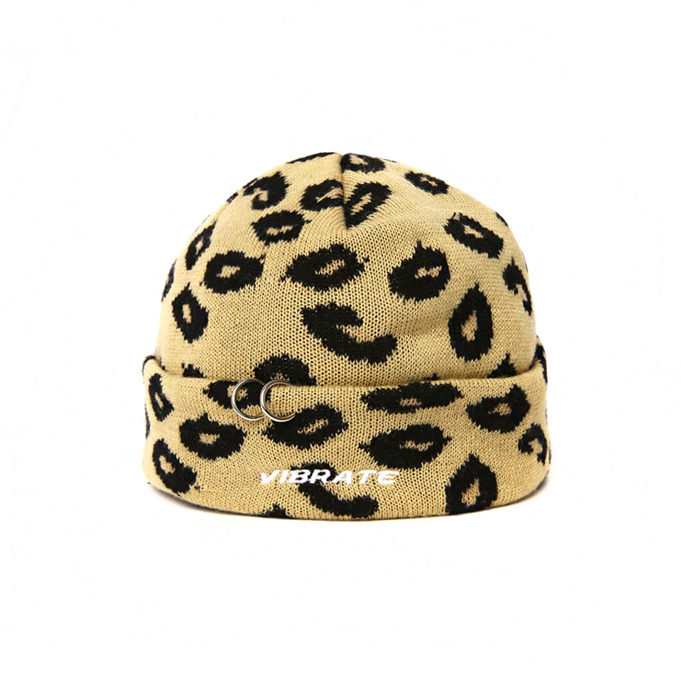 [VIBRATE] - RING POINT LEOPARD BEANIE [예약발송] 10월 19일 입고예정