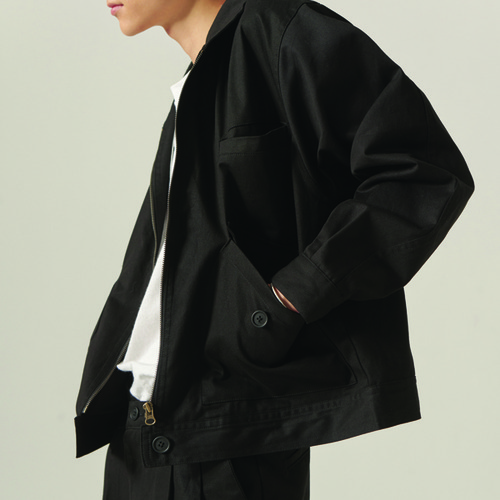 [CHOISI]Primary Trucker Jacket, Black