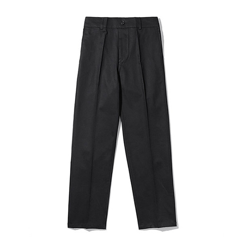[TENBLADE] [Project 36.5]Standard Cotton Taperde Banding Pants_Black