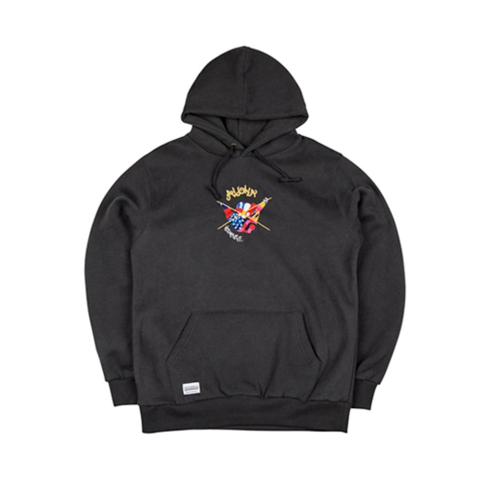 [하운드빌]SHAKA HANDS hoody deep grey (양기모)
