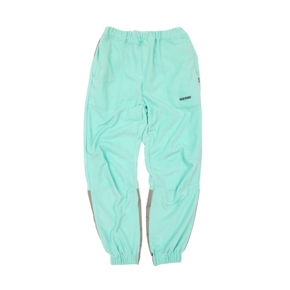[yeseyesee] FLEECE JOGGER PANTS AQUA