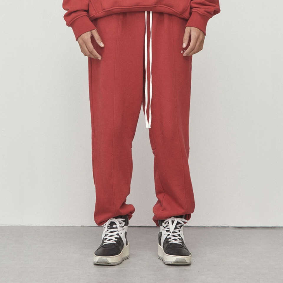 [D.PRIQUE]Logo Jogger Pants Red (D18F162)