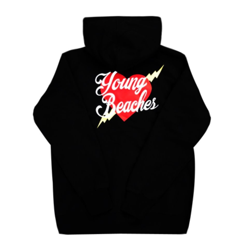[YBCS] Youngbeaches Heart Thick Hoodie 하트로고후디 (Black)