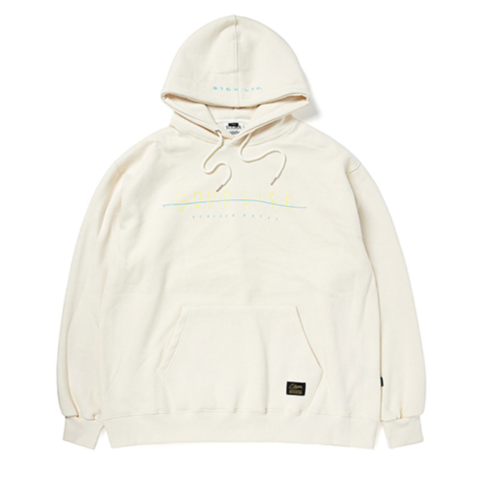 [STIGMA]GOOD LIFE OVERSIZED HEAVY SWEAT HOODIE - BEIGE
