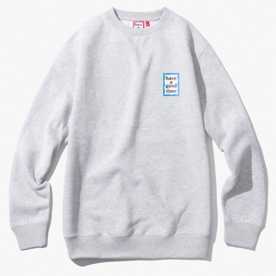 [Have a good time] MINI BLUE FRAME CREWNECK - HEATHER GREY